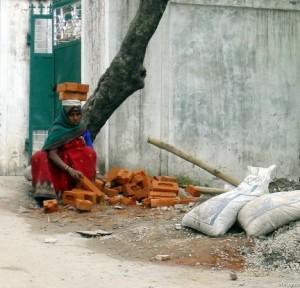 Жінка будівельник в Індії 5