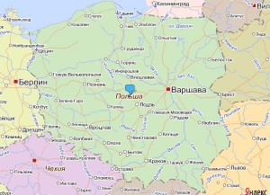 Карта Польщі