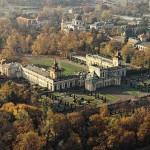 Палац у Вілянові з висоти пташиного польоту