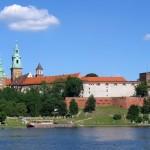 Вавельський замок - вигляд з Вісли
