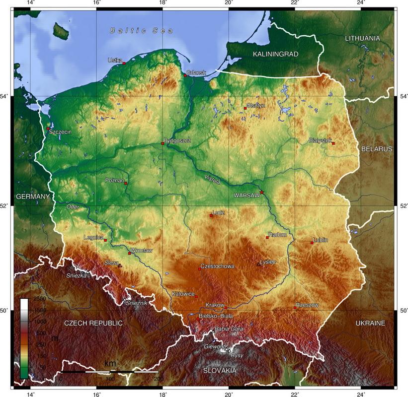 Карта Польщі | Польща для мандрівників