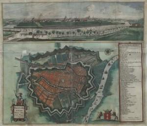 Гданськ у сімнадцятому столітті, оточений кільцем укріплень