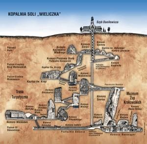 Туристичний маршрут по соляних шахтах Величка