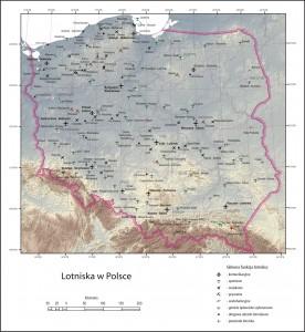 Карта аеропортів Польщі