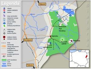 Біловезька пуща - Карта