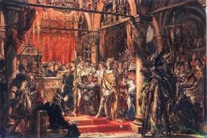 Коронация Хороброго I в Гнезно. Картина Яна Матейко