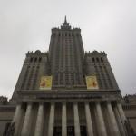Палац культури і науки у Варшаві. Вигляд знизу