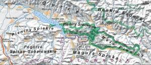 Пенінський національний парк - Карта