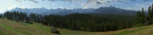 Татри - Панорама з назвою вершин