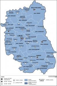 Люблінське воєводство - Карта