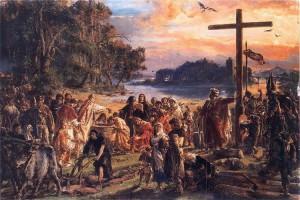 Хрещення Польщі (965 р.). Картина Яна Матейко
