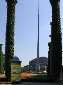 106-метровий шпиль. Зала Століття в місті Вроцлав