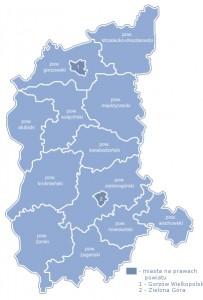 Карта Любуського воєводства