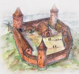 Малюнок не зруйнованого замку Черськ