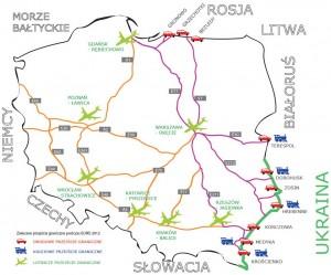 Діючі пропускні пункти Польщі