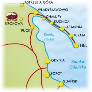 Хельська коса - Карта