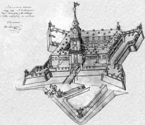 Жешувський замок - Схема