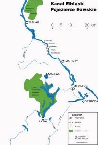 Ельблонгський канал - Карта
