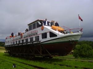 Ельблонгський канал - Транспортування судна посуху