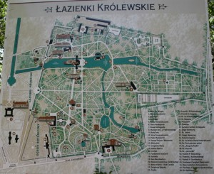 Королівські Лазенки - Карта