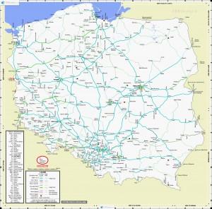 Залізниця Польщі - Карта