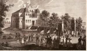 Замок Курник у 1842 році