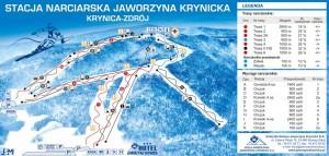 Карта трас Явожина Криницька. Курорт Криниця-Здруй