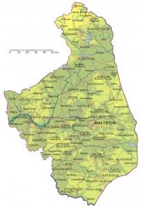 Карта Підляського воєводства