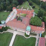 Замок в Ланцуті з льоту птаха