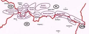 Карта Бескид