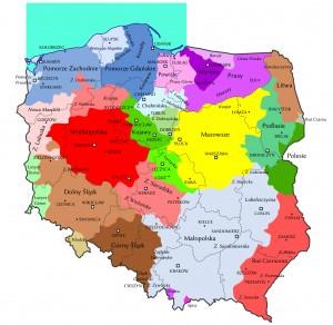 Історичні області Польщі