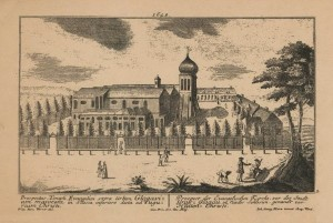 Малюнок церкви миру у Глогуві