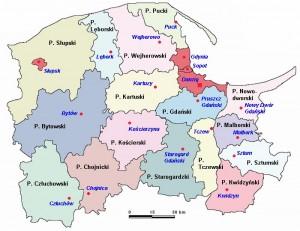 Поморське воєводство - Карта
