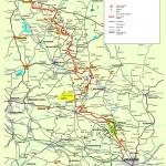 Шлях Орлиних Гнізд - Карта