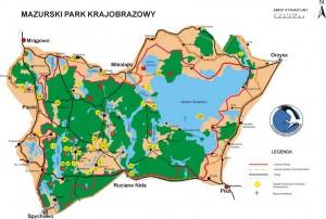 Карта. Мазурський ландшафтний парк