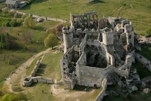 Замок Огродинець - Вигляд зверху