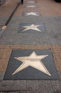 Алея зірок. Вулиця Пьотрковська у Лодзі