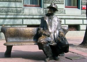 Лавка Тувіма. Вулиця Пьотрковська у Лодзі