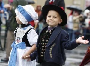 Діти на фестивалі Октоберфест