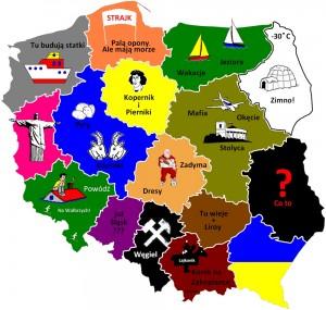 Цікава карта Польщі