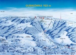 Карта трас. Гірськолижний курорт Губалувка