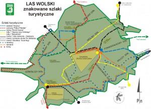 Туристична карта  Вольського лісу