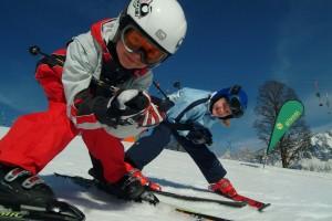 Діти на лижах. Сімейний відпочинок