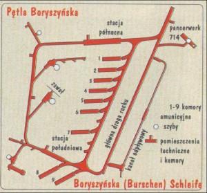 Петля Боришинська. Карта