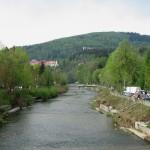 Річка Вісла у містечку Вісла