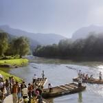 Сплави на плотах по річці Дунаєць