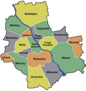 Райони Варшави