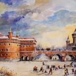 Краківський барбакан у давнину