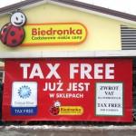 Вивіска Такс Фрі в Польщі