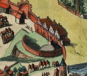 Королівський замок в Познані у 1617 році